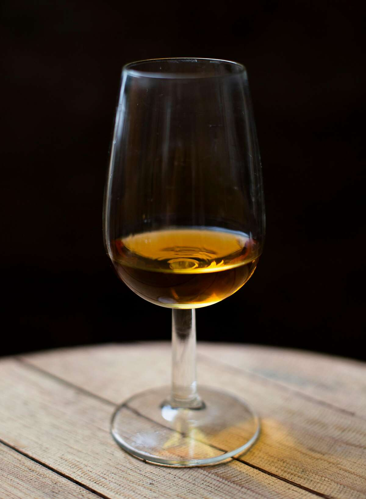 Aged cognac made by distiller Dan Farber photographed in his distillery Sunday, 9/30, 2018 in Soquel, California. Farber is the owner of Osocalis, a small, artisanal distillery.