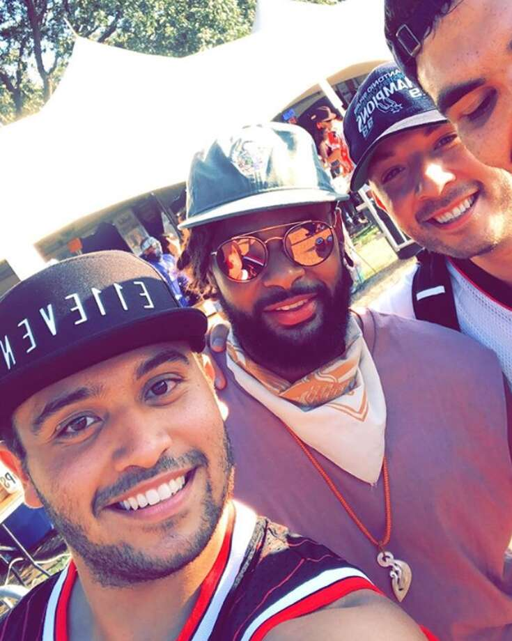 Spurs fans Geovan Franco, Chris Rodriguez and Gabe Olivares spotted the Spur at Austin City Limits Music Festival around 6 p.m. Saturday. Photo: Courtesy, Geovan Franco/@geovanf23