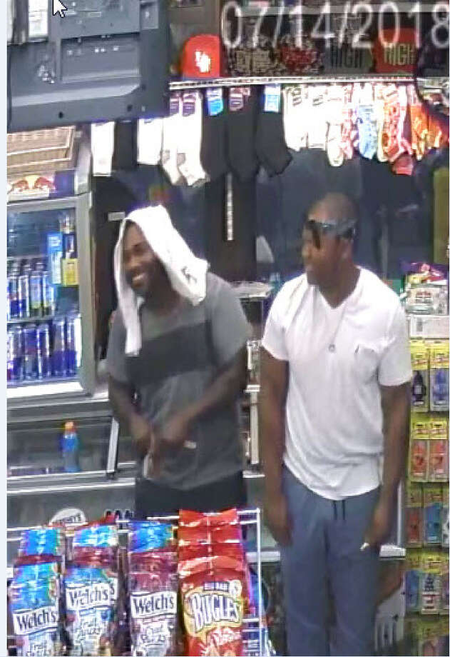 Albany Police are seeking the public's help in identifying two men in connection  to the homicide of Khalil Barnes, who was shot in his car on July 14. Photo: Photo Courtesy Of Albany Police Department