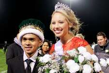 During the Oct. 12 Laker Homecoming Pep Assembly, Derek Moreno was crowned as Homecoming King. During the halftime show at the Homecoming game that evening, Madi Krohn was crowned as the Homecoming Queen. They were crowned by last year's king and queen, Jacob Kretzschmer and Emma Johnson. (Submitted Photo)