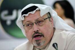 Saudi journalist Jamal Khashoggi speaks during a press conference in Manama, Bahrain. Turkish claims that Khashoggi, who wrote for The Washington Post, was slain inside a Saudi diplomatic mission in Turkey, has put the Trump administration in a delicate spot with one of its closest Middle East allies.
