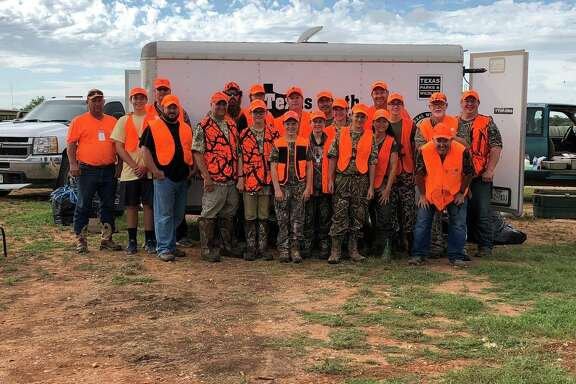 Families can learn more about getting outdoors through hunting Saturday, Oct. 20, at Kids Wildlife Conservation Day at Holy House Academy. The free event is a partnership between Texas Brigades, Texas Parks & Wildlife and the Texas Youth Hunting Program. Here, a TYHP group enjoys their October weekend hunting trip in San Angelo, Texas.