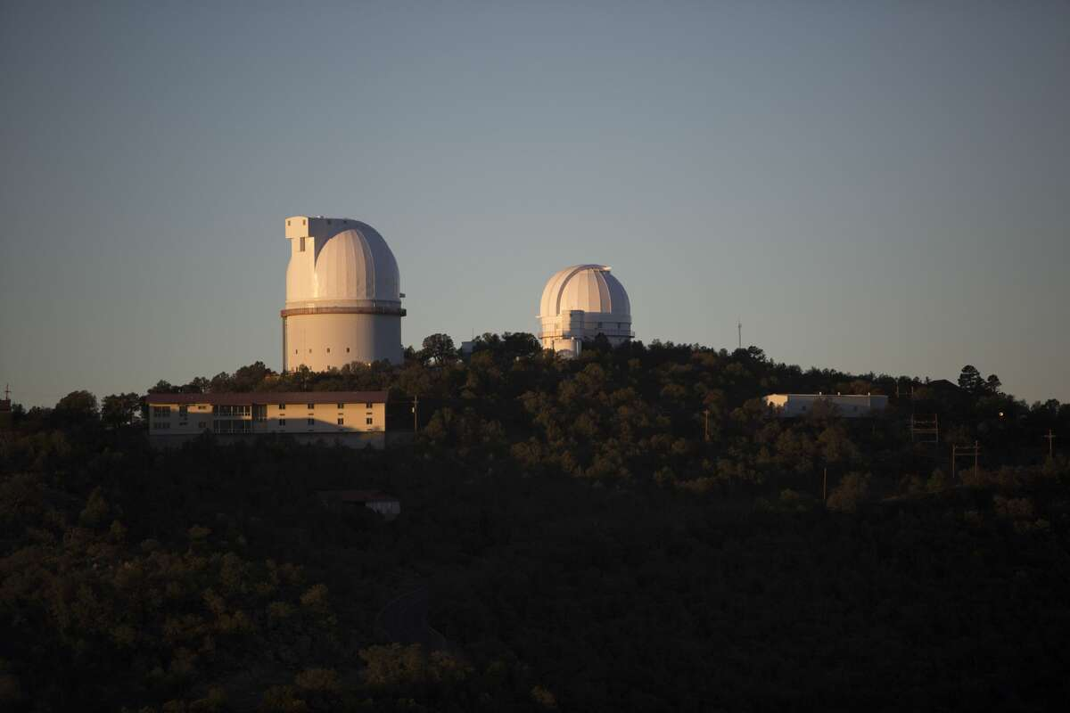 The Otto Struve Telescope and Harlan J. Smith Telescope are seen at the McDonald Observatory.