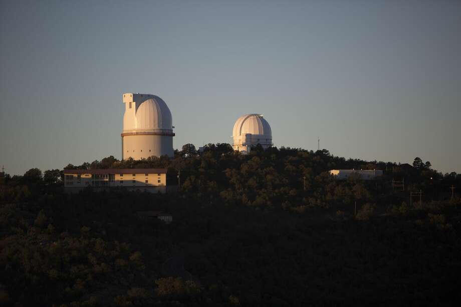 The Otto Struve Telescope and Harlan J. Smith Telescope are seen at the McDonald Observatory. Apache Corp. gifted $257,000 to the University of Texas' McDonald Observatory to help with the prevention of light pollution in dark West Texas skies – which are often used for research.