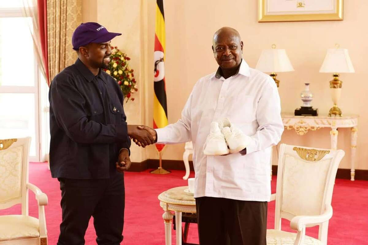 Kanye West meets Ugandas president, gifts pair of sneakers forecasting