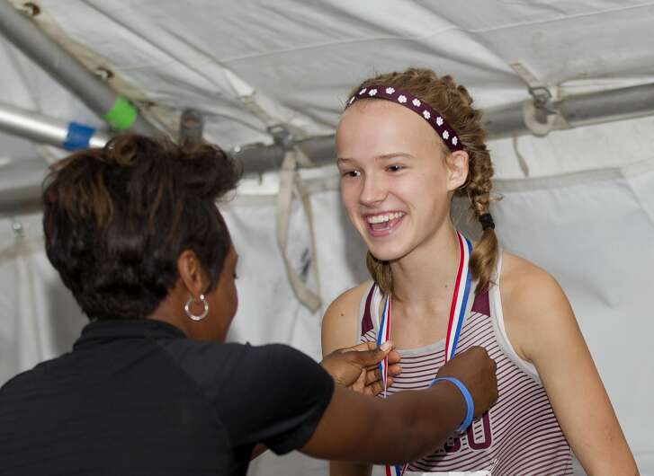 Heidi Nielson, of Katy Cinco Ranch, finished fourth overall in the Class 6A girls race during the UIL State Cross Country Championships at Old Settlers Park, Saturday, Nov. 4, 2017, in Round Rock.