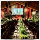 Interior of the Genevieve Brisebois-designed tent at the League to Save the Redwoods centennial gala. Oct. 13, 2018.