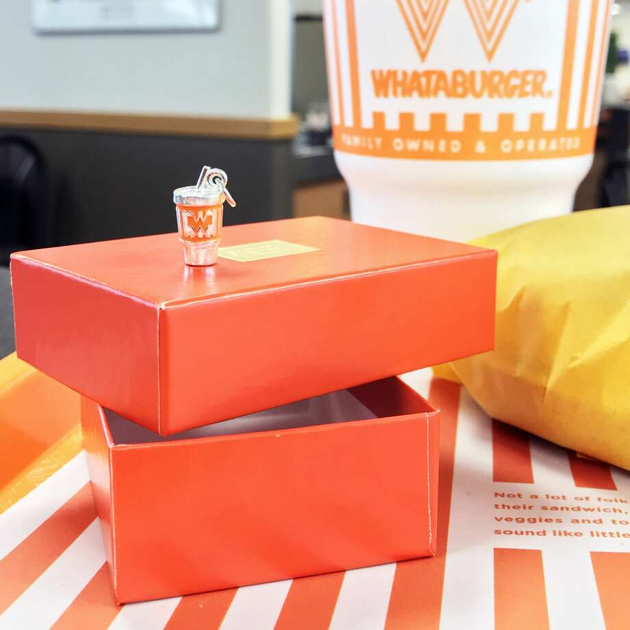 Whataburger and James Avery fans can show everyone that their cups runneth over with love for the two brands via a brand-new sterling silver charm. The Texas companies teamed up to create a one-of-a-kind collector's item, a tiny replica of the Whataburger cup, complete with hand-painted orange enamel. Photo: Courtesy, Whataburger