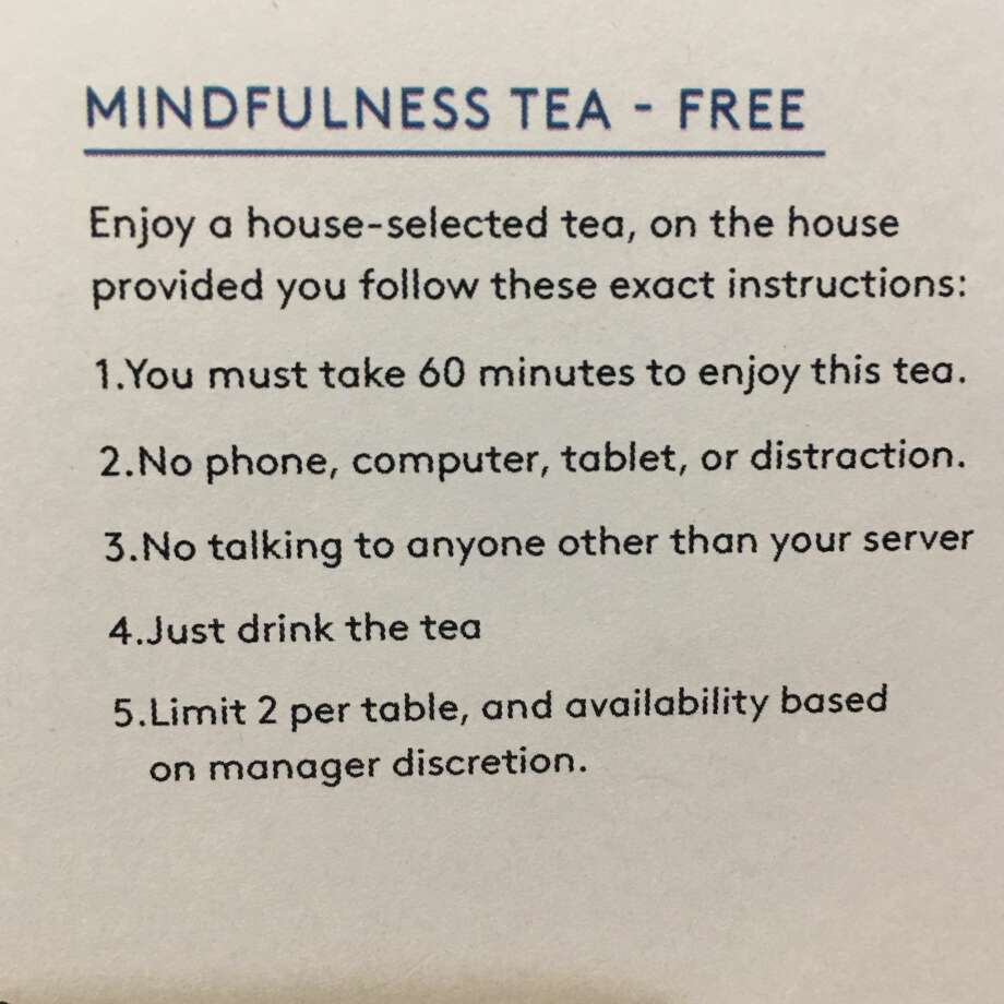 SF tea lounge's new menu item is a social experiment for customers