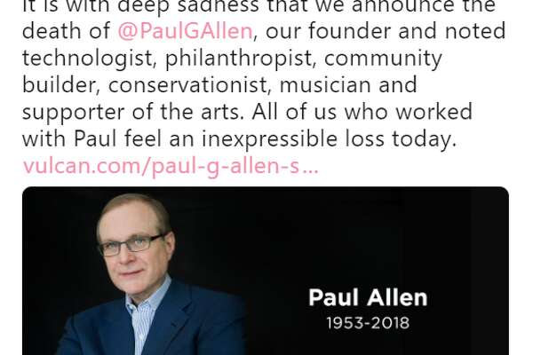 Paul Allen died on October 15, following complications in treating hisnon-Hodgkin's lymphoma, which he announced had returned at the beginning of October.