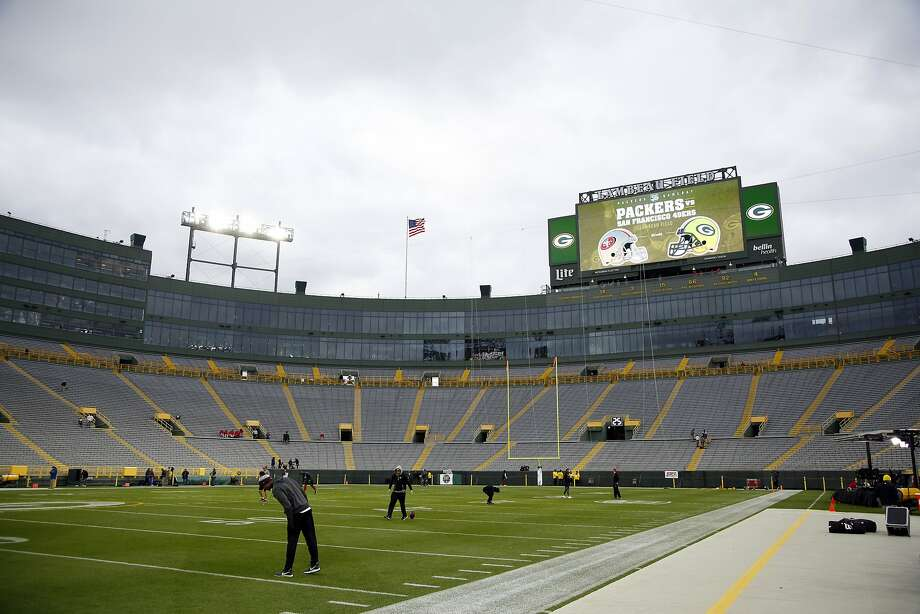 Lambeau Field before an NFL football game between the Green Bay Packers and the San Francisco 49ers Monday, Oct. 15, 2018, in Green Bay, Wis. (AP Photo/Matt Ludtke) Photo: Matt Ludtke / Associated Press