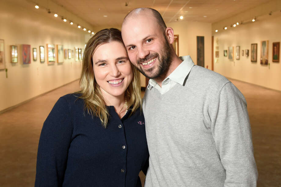 Stacy and Brendan Egan, seen at the Allison Fine Arts Building at Midland College, both teach creative writing.  Photo: James Durbin / ? 2018 Midland Reporter-Telegram. All Rights Reserved.