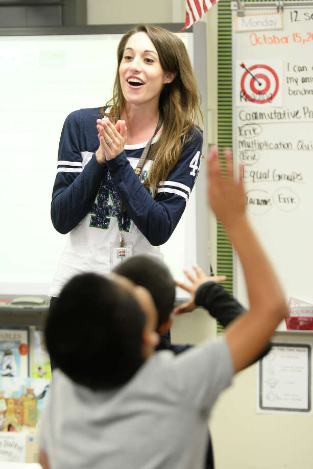 Molly Connolly photographed teaching her third grade class Oct. 15, 2018, at Jones Elementary. James Durbin/Reporter-Telegram Photo: James Durbin / ? 2018 Midland Reporter-Telegram. All Rights Reserved.