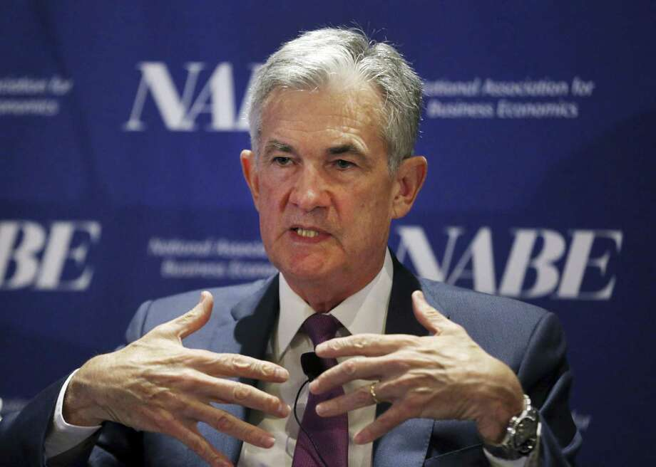 Federal Reserve Chairman Jerome Powell speaks at the the National Association for Business Economics in Boston this month. Monetary policy should not be driven by politics — most administrations have understood what is at risk. Photo: Elise Amendola / Associated Press / Copyright 2018 The Associated Press. All rights reserved