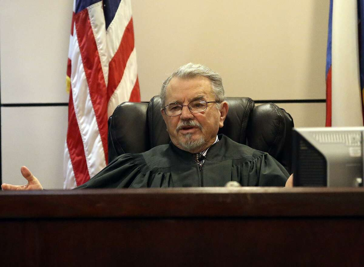 Judge Pat Priest, sitting in for Judge Angus McGinty in February 2014, presides over a murder trial. Priest, 77, died unexpectedly Oct. 12 after a brief illness.