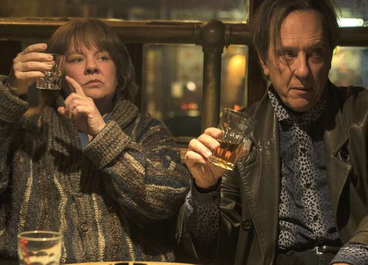 "Melissa McCarthy as Lee Israel in ""Can You Ever Forgive Me?,"" with Richard E. Grant."