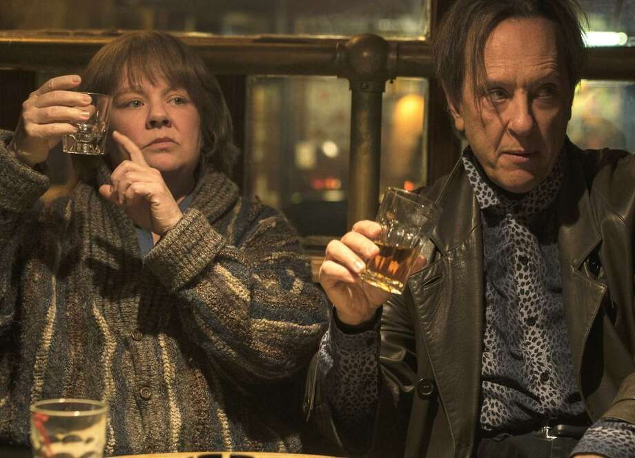"""Melissa McCarthy as Lee Israel in """"Can You Ever Forgive Me?,"""" with Richard E. Grant. Photo: Mary Cybulski / 20th Century Fox / © 2018 Twentieth Century Fox Film Corporation All Rights Reserved"""