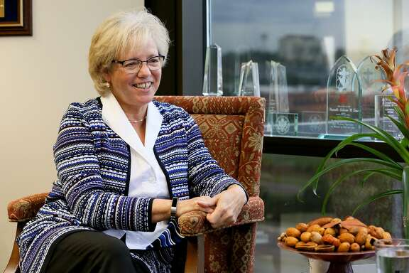 Catherine Stone, retired judge of Fourth Court of Appeals, in her office at Langley & Banack law firm on Thursday, Oct. 11, 2018. Stone will head a commission that will examine the sexual abuse cases against priests in the Archdiocese of San Antonio.