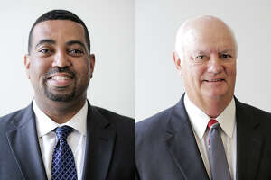 Cliff Vacek, left, and Brian Middleton are looking to become Fort Bend County District Attorney.