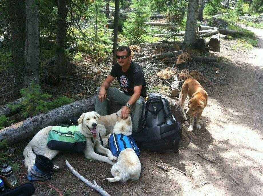 Jeff Long, pictured here on a hiking trip, along with his sister Sarah, developed an app called Axis Earth to create a platform for outdoor sport enthusiasts to connect with each other. Photo: Jeff Long