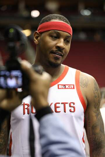 516e20f3d106 3of39Houston Rockets  Carmelo Anthony wears the team s new jersey with the  ROKiT patch. The patch will be featured on all Rockets player jerseys  beginning ...