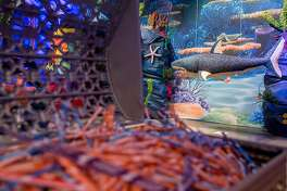 An underwater-themed room is one of the many attractions inside Candytopia in San Francisco, Calif. Tuesday, Sept. 4, 2018.