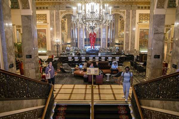 The main lobby of the Sir Francis Drake Hotel in San Francisco, Calif. Thursday, Oct. 11, 2018.