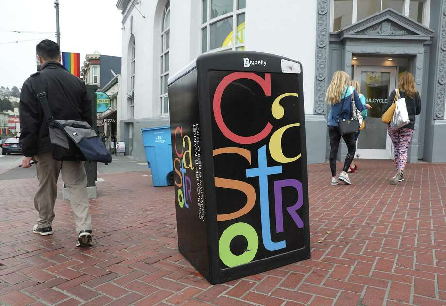 View of the new Bigbelly garbage can seen on Castro Street on Monday, Aug. 13, 2018 in San Francisco, Calif. Photo: Liz Hafalia / The Chronicle / online_yes