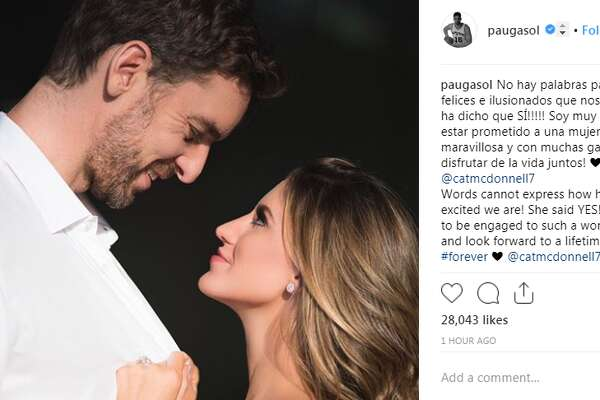 paugasol: Words cannot express how happy and excited we are! She said YES!! I'm so lucky to be engaged to such a wonderful woman and look forward to a lifetime together! #forever @catmcdonnell7!!!