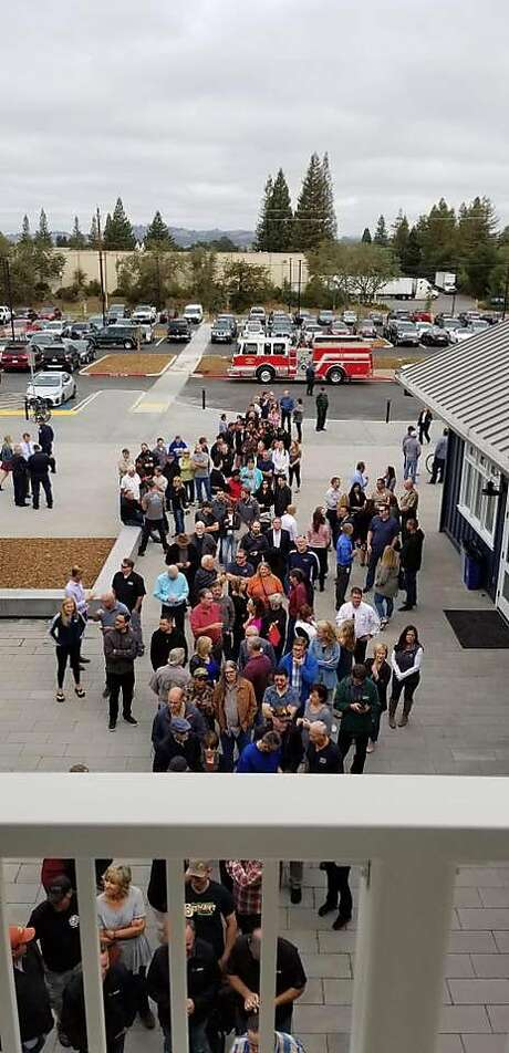 Crowds outside of Russian River Brewing's new Windsor facility. Photo: Russian River Brewing.