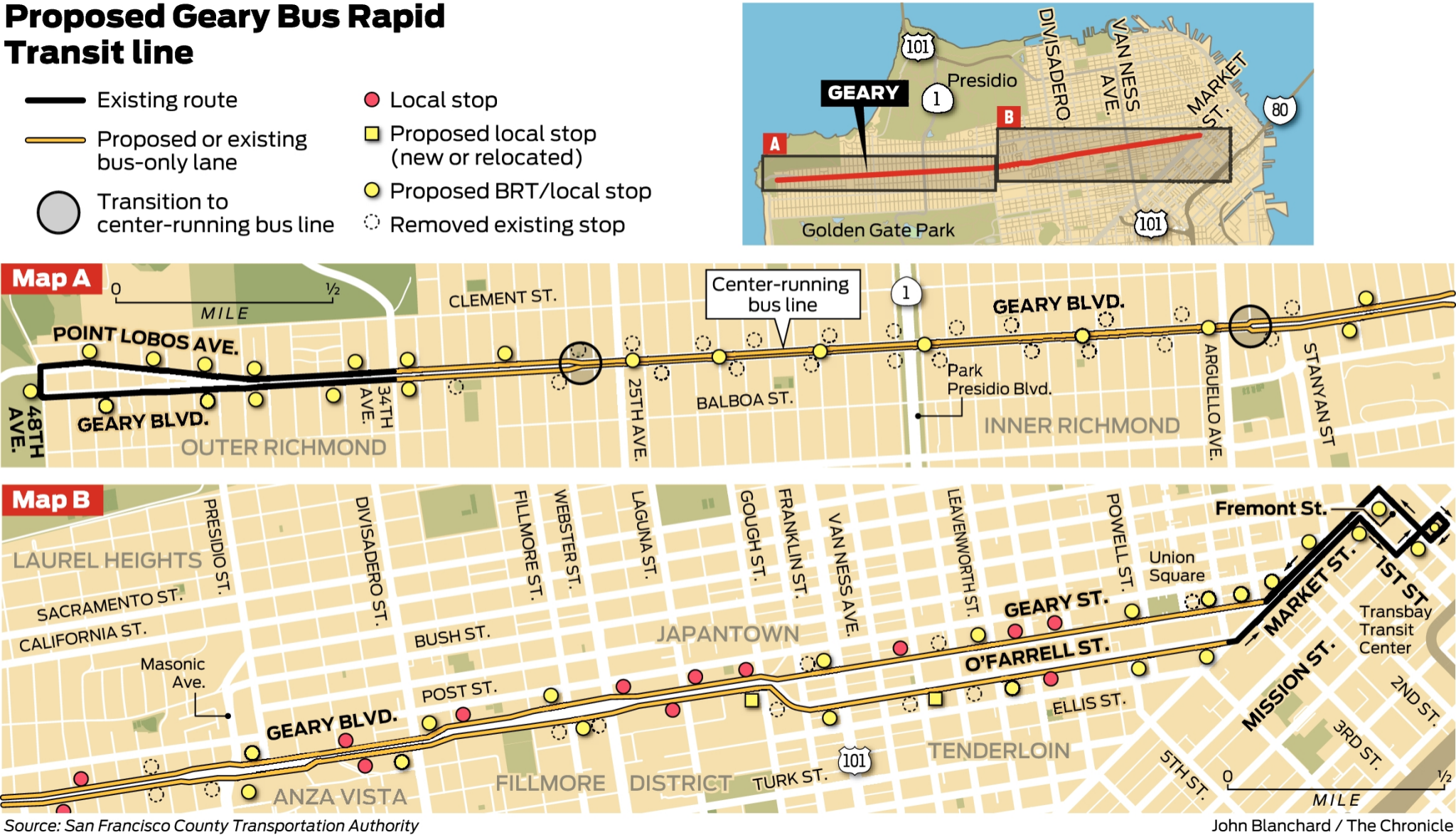 Judge tosses lawsuit aimed at slowing Geary Blvd  bus rapid transit