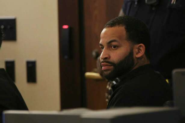 Xavier DeShawn Johnson sits in the Bexar County 187th Criminal District Court, during the first day of his murder trial, Tuesday, Oct. 16, 2018. Johnson was accused of fatally shooting Christopher Dotson at a house on the 1200 block of Center Street on June 2016. A jury found him not guilty on Friday, Oct. 19, 2018.