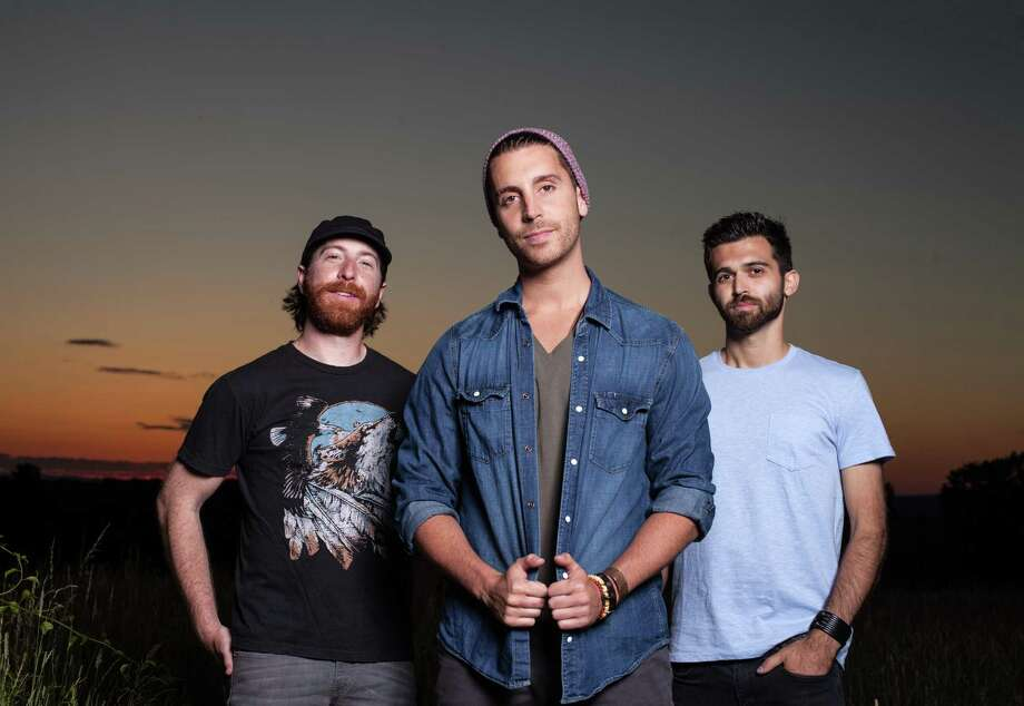 Nick Fradiani, center, and Beach Avenue bandmates Ryan Zipp, left, and Nick Abraham will be at Space Ballroom Sept. 27. Photo: Manic Productions / Contributed Photo