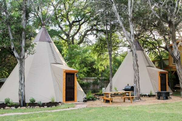 """Tipis"" - New Braunfels Average nightly rate: $116Sleeps: 6"