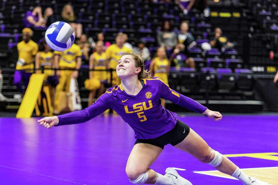 Raigen Cianciulli, a 2017 Oak Ridge High School graduate, is a defensive specialist for LSU volleyball. Photo: LSU Athletics, LSU Athletics Student Photographer / Kelly McDuff / LSU Athletics / Kelly McDuff / LSU Athletics