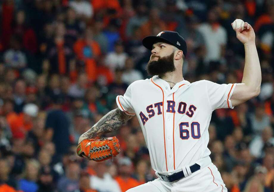 PHOTOS: Houston Astros 2018 salaries and contract situations  Houston Astros starting pitcher Dallas Keuchel (60) throws the first pitch during the first inning of Game 3 of the American League Championship Series at Minute Maid Park on Tuesday, Oct. 16, 2018, in Houston.  >>>Browse through the photos for a look at salaries and contract situations for each Astros player ...  Photo: Karen Warren, Staff Photographer / © 2018 Houston Chronicle