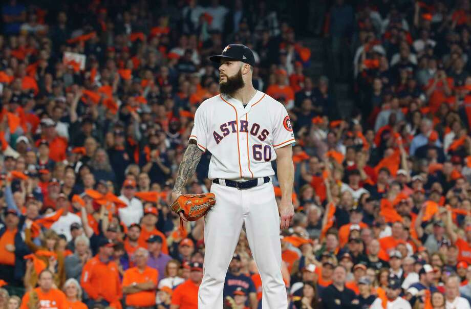 PHOTOS: Astros' 2018 salaries and contracts Houston Astros starting pitcher Dallas Keuchel (60) pitches during the first inning of Game 3 of the American League Championship Series at Minute Maid Park on Tuesday, Oct. 16, 2018, in Houston. Photo: Karen Warren, Staff Photographer / © 2018 Houston Chronicle