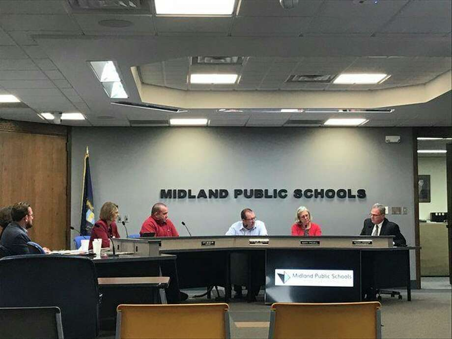 Updates on the press box, education programs, school security and the upcoming election were discussed at the Monday, Oct. 15 Midland Public Schools' Board of Education meeting at the Midland Public Schools Administration Center. (Kate Carlson/kcarlson@mdn.net)
