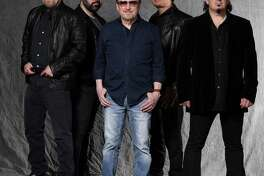 "Blue ?-yster Cult, Eric Bloom, left, Richie Castellano, Donald ""Buck Dharma"" Roeser, Jules Radino and Danny Miranda, will perform at the Wall Street Theater in Norwalk on Oct. 31."