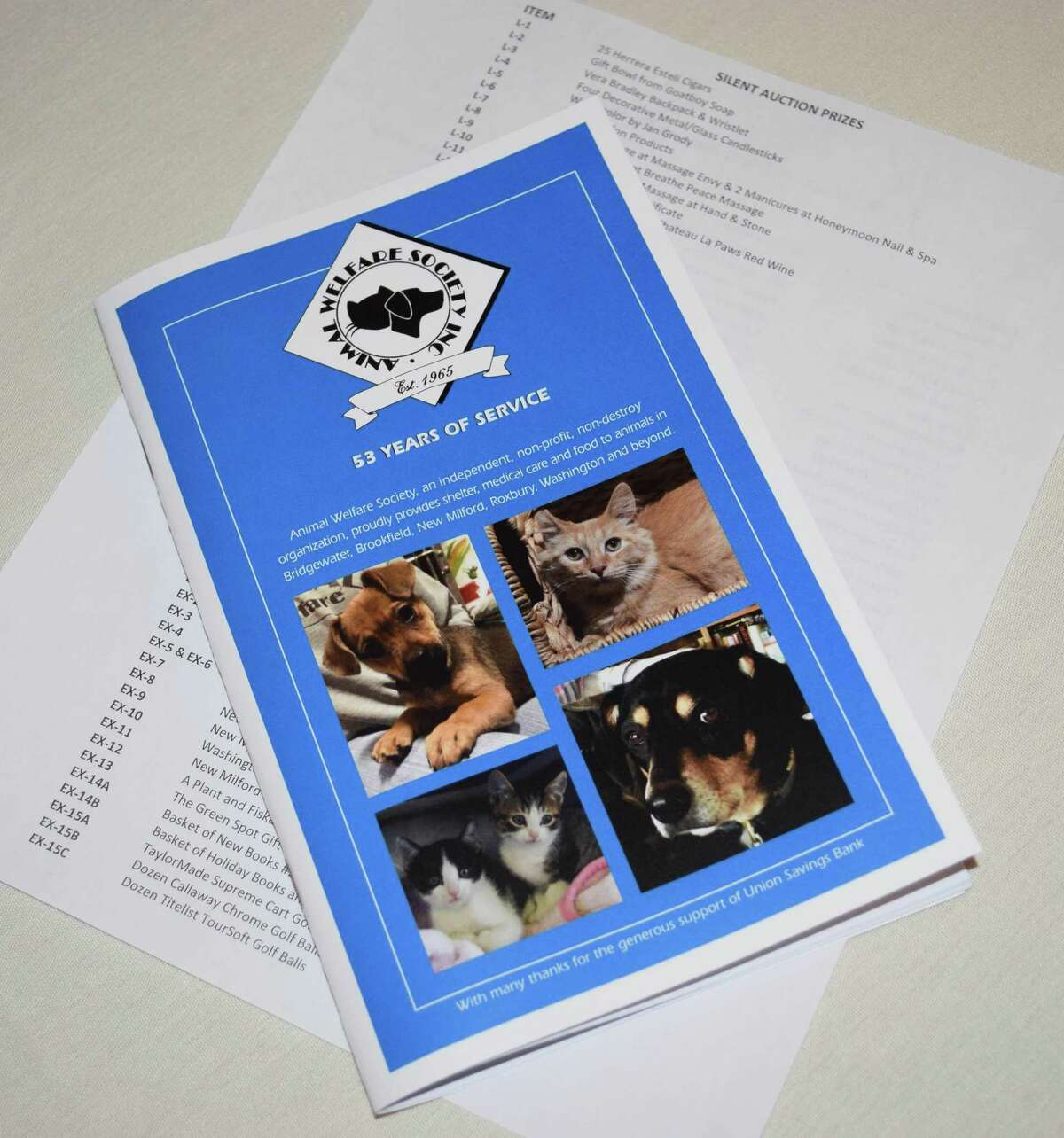 Animal Welfare Society of New Milford held its fifth annual breakfast at Candlewood Valley Country Club in town.