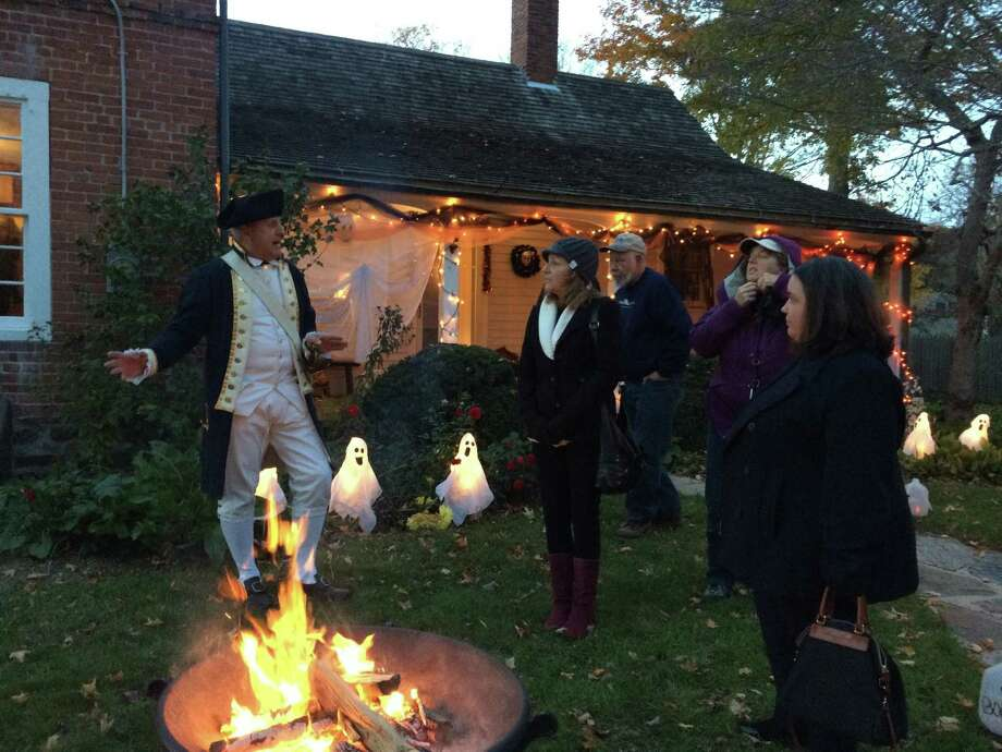The Connecticut River, the Clinton Historical Society and First Church of Christ in East Haddam are hosting events that coincide with the Halloween season. Above, Clinton Historical Society volunteers in costume will greet visitors for the annual Ghost Walks, Oct. 23-24. Photo: Contributed Photo /