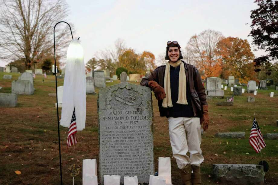 "The 11th annual Washington Green Cemetery Tour will be held Oct. 26 from 6:30 to 8:30 p.m. A rain date of Oct. 28 is planned. The theme of this year's tour is ""Tales from the Depot's Shopkeepers,"" featuring actors portraying Harold Anson, Betsy Averill, Carl Bader, Alpheus Baker, Beatrice Davenport, Abigail Irene Gunn, Thomas Hearn, Ezra Hull, Harold Swanberg, Robert Woodruff and June Wyant. Photo: Courtesy Of Gunn Historical Museum / The News-Times Contributed"