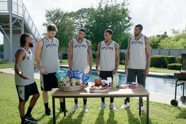 San Antonio grocery chain H-E-B's award-winning run of humorous commercials starring the San Antonio Spurs will enter its 14th year Wednesday.
