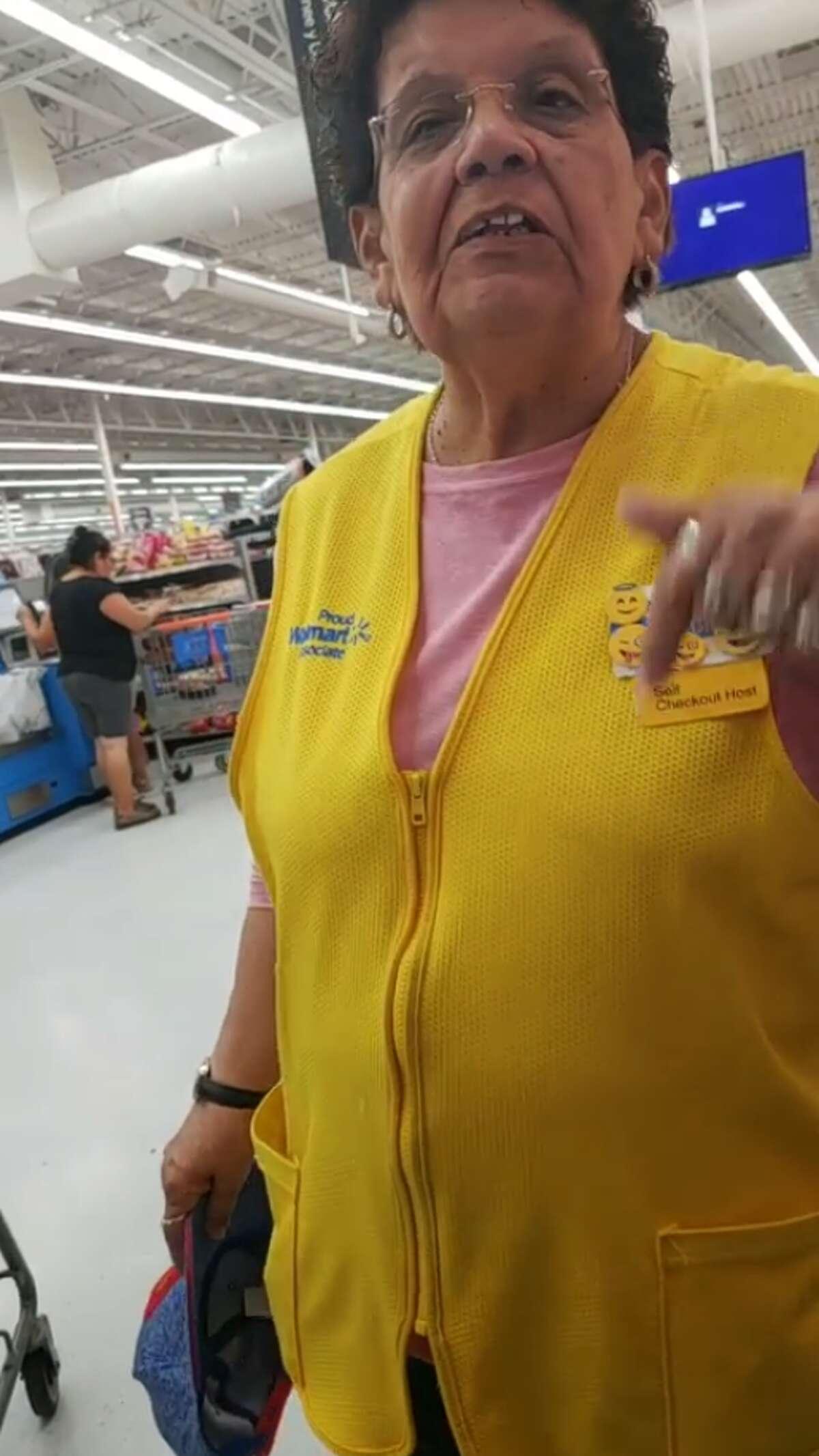 A Houston man said a Walmart employee told him to speakEnglish.
