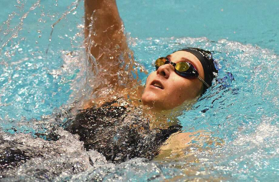 Lauralton Hall's Isabella Preneta competes in the 200 IM during the State Open in 2016. Photo: John Nash / Hearst Connecticut Media / Norwalk Hour