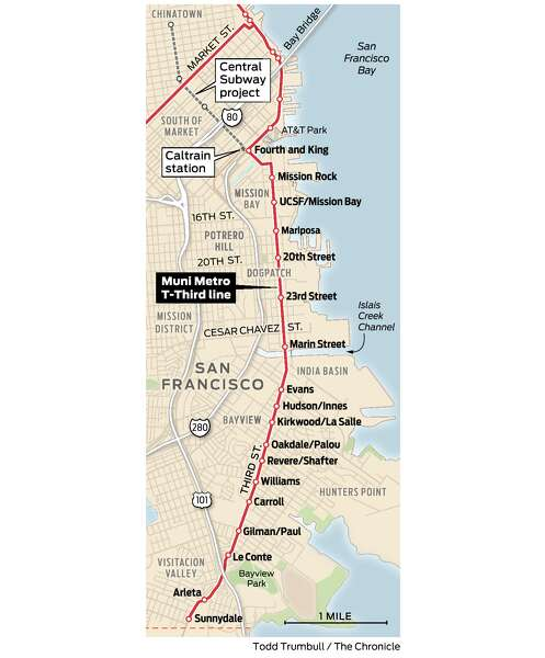 San Francisco Muni Metro Map.The T Line Has Never Lived Up To Its Promise Coming Upgrades May
