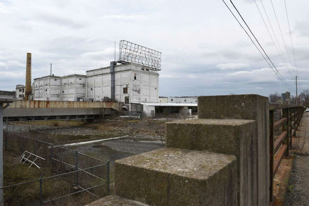 Demolition work is expected to start shortly at part of the former Beech-Nut plant in Canajoharie, Montgomery County. Warehouses on the eastern part of the site will be coming down, but state preservation officials are still reviewing whether the four-story office complex, show here, ought to be saved for another potential use. (Will Waldron/Times Union archives)