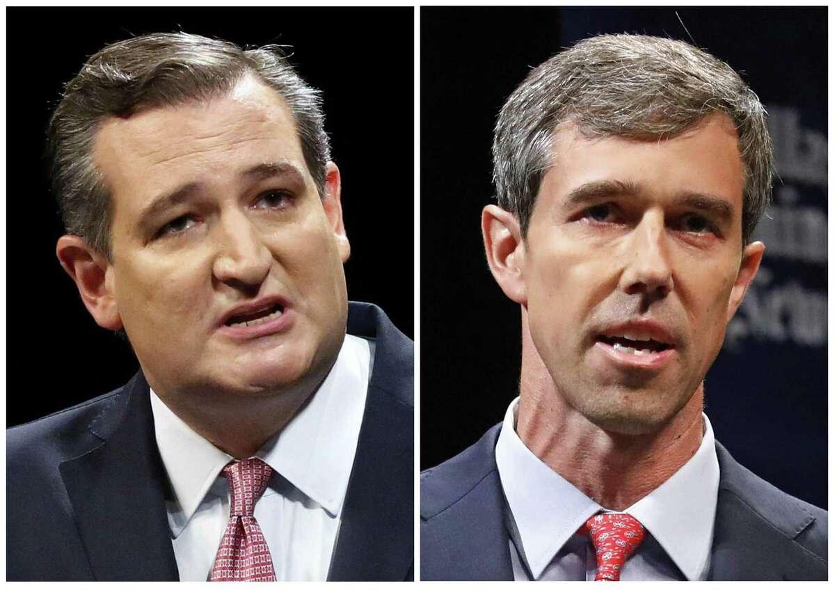 Republican U.S. Sen. Ted Cruz, left, and Democratic U.S. Rep. Beto O'Rourke, right, are locked in a tight race for the Nov. 6, 2018 election.