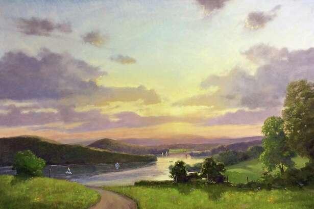 """Sunset Sail, Lake Waramaug"" by Thomas Adkins."