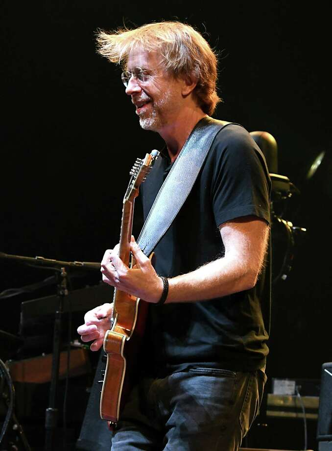 Lead vocalist and guitarist Trey Anastasio plays his guitar as Phish performs at the Times Union Center on Tuesday, Oct. 16, 2018 in Albany, N.Y. (Lori Van Buren/Times Union) Photo: Lori Van Buren, Albany Times Union / 20045168A
